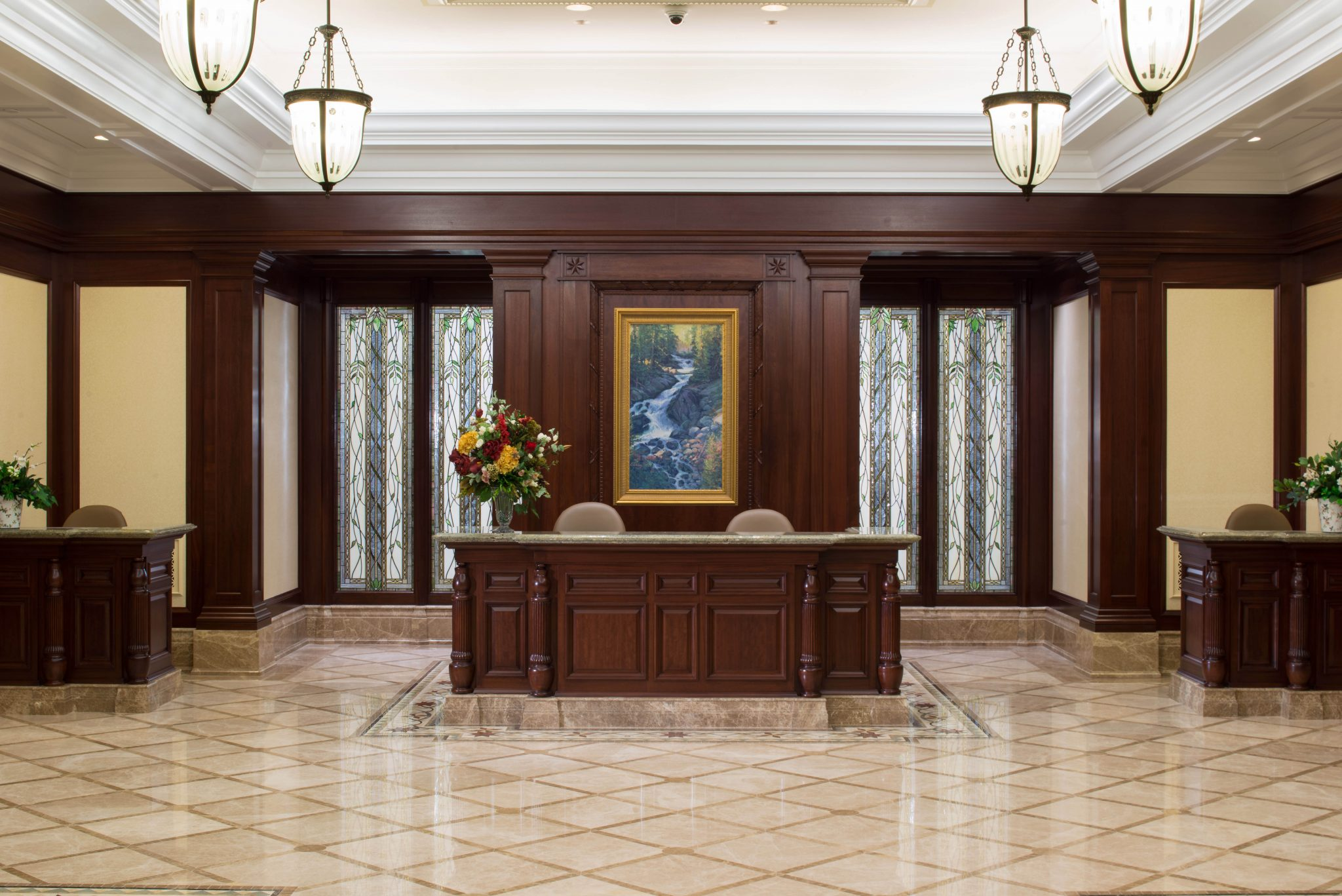 Photos first look inside the payson utah temple lds daily for Temple inside home designs