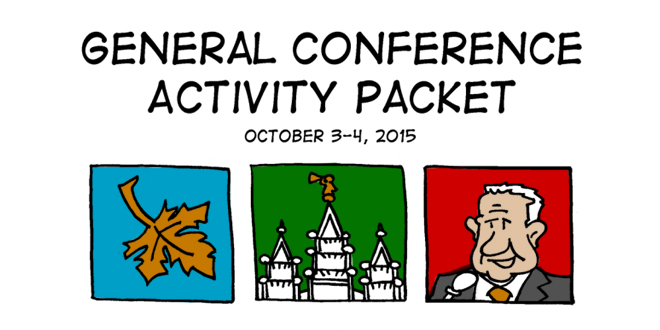 free general conference activity coloring activity packets