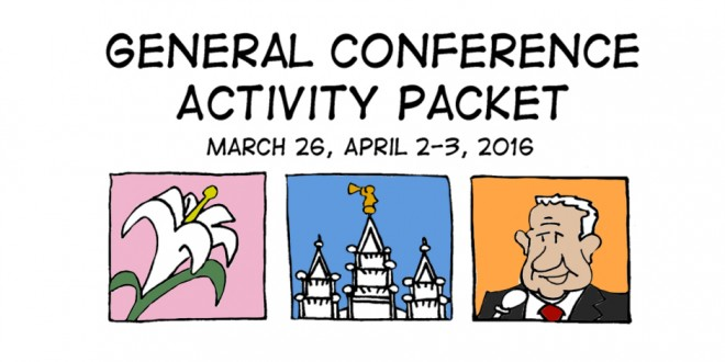 free general conference activity coloring activity packets 2