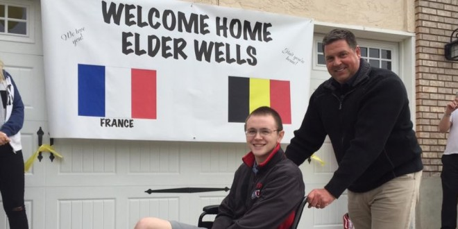 Elder Wells Returns Home After Brussels Bombing