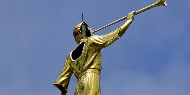Lightning Strike Damages Angel Moroni Statue