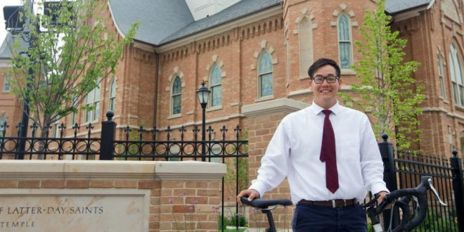 BYU Student Biking to All Utah Temples in Two Weeks