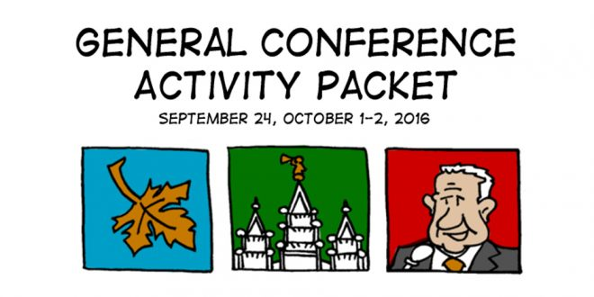 FREE General Conference Activity Coloring + Activity Packets!