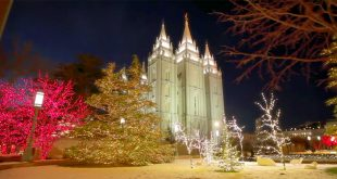 Experience the Magical Christmas Lights on Temple Square in New Video