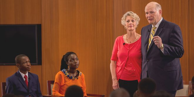 Elder and Sister Renlund Talk With Mormon Youth in Africa