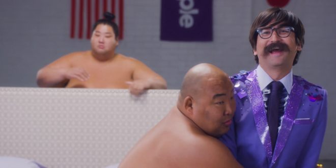Studio C Star Jeremy Warner Joins Sumo Wrestlers for Purple Commercial