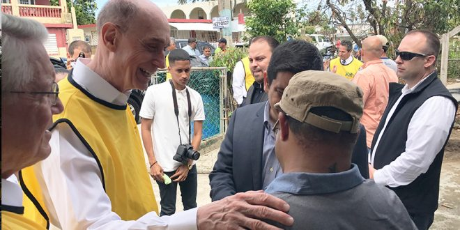 President Eyring Offers Support in the Caribbean After Hurricane Irma