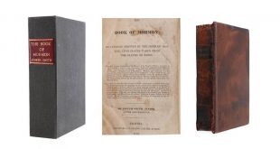 1830 First Edition Copy of Book of Mormon Is On Sale