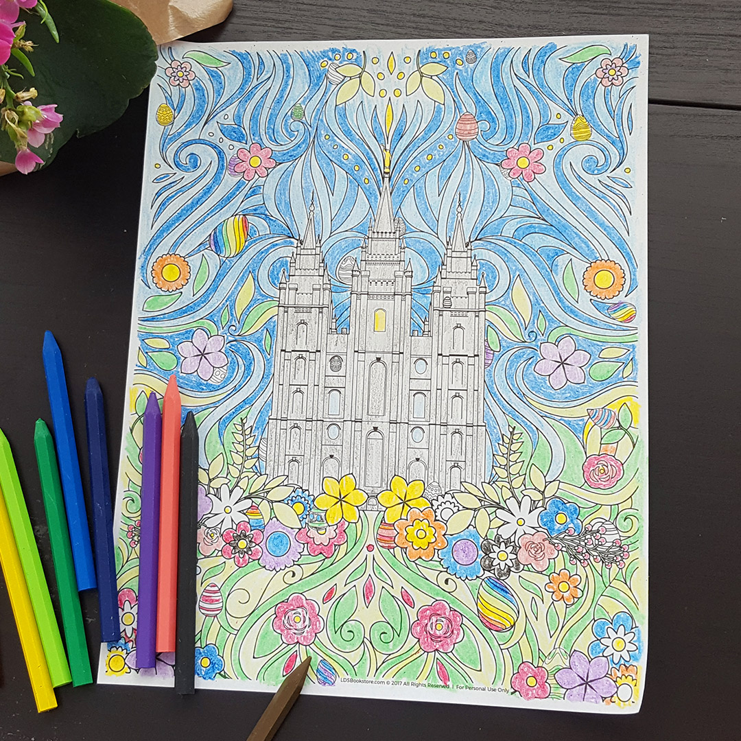This LDS Easter Coloring Page Is Festive Amp FREE