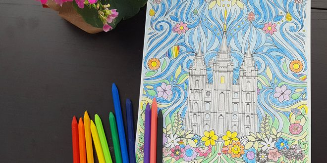 This LDS Easter Coloring Page is Festive & FREE