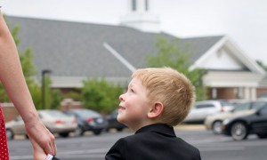 child-going-to-church