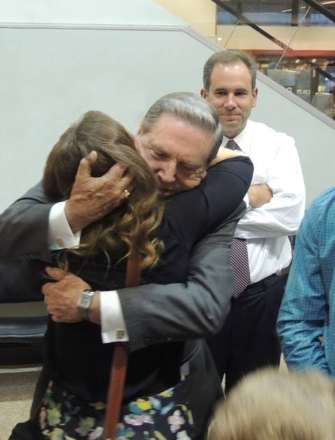 Elder Holland with granddaughter.