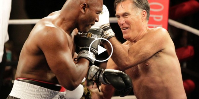 Mitt Romney and Evander Holyfield Rumble in Salt Lake
