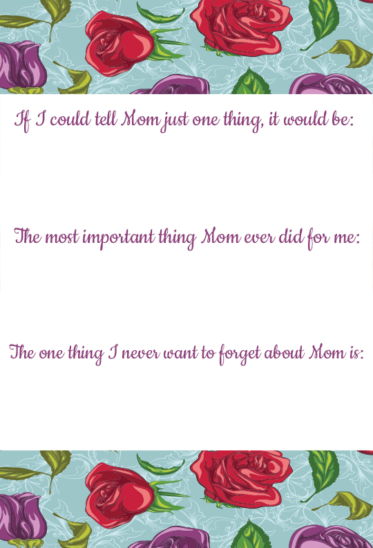 Mother's Day Prompts for Adults