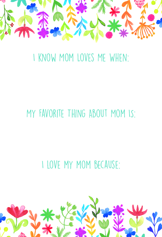 Mother's Day Prompts for Children