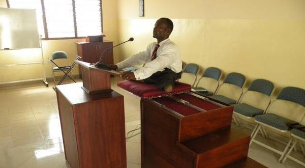 LDS Senior Missionary Builds Pulpit for Paralyzed Bishop in Ghana