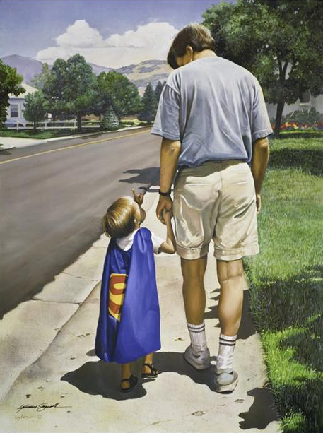 Even Superman Needs a Dad (Print)