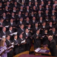 "The choir opened with ""Does the Journey Seem Long."" President Packer also requested this song to be sung in General Conference in 2012."