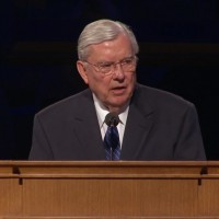"""Elder M. Russell Ballard shared warm stories of President Packer's humor. He spoke of his last meeting, the Sunday before President Packer passed. """"Two old friends said goodbye that Sunday, not knowing it would be some time before we would meet again."""""""