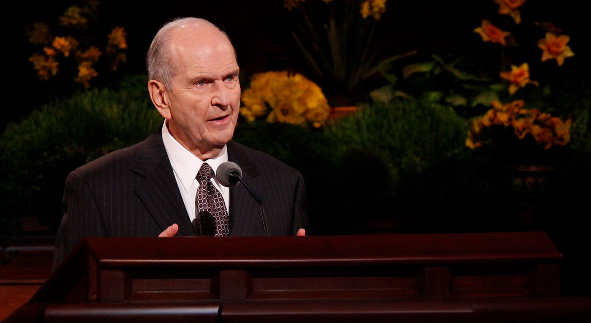 Elder Nelson Set Apart as President of Quorum of 12