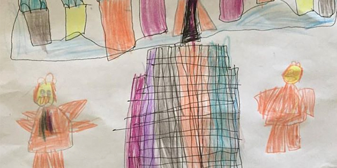 Child Draws Angels Near President Monson During Conference