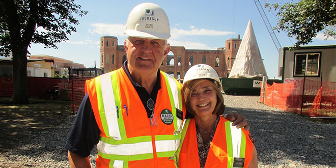 Construction Service Missionaries Discuss New Provo Temple