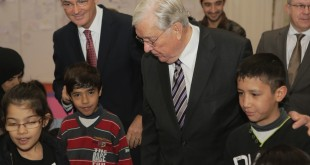 Watch Elder M. Russell Ballard Meet with Syrian Refugees in Europe
