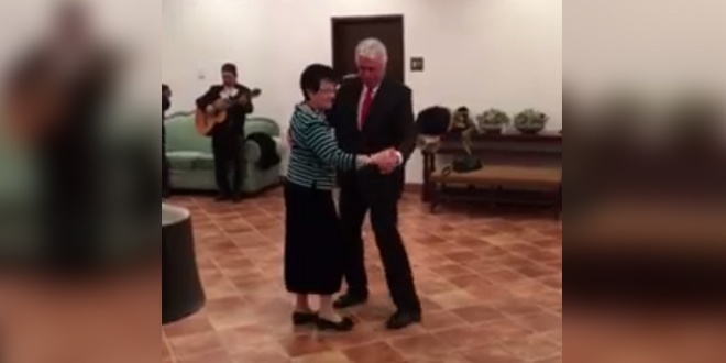 President and Sister Uchtdorf Dance to Traditional Mexican Music