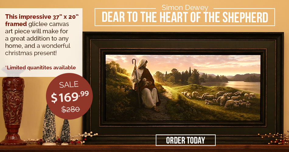 Dear to the Heart of the Shepherd (Framed 37 x 20)