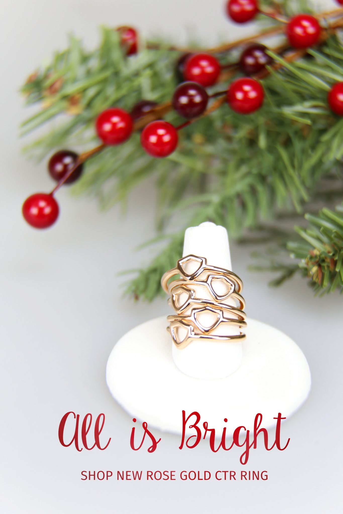 rose gold ctr ring christmas