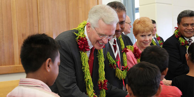 Elder D. Todd Christofferson Expresses Love to Samoan Saints