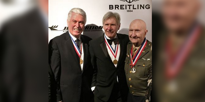 President Uchtdorf Celebrates Aviation with Harrison Ford, Gail Halvorsen