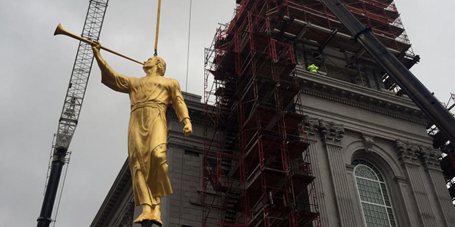 Philadelphia Pennsylvania Temple Places Angel Moroni Statue