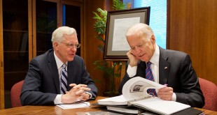Vice President Joe Biden Receives Family History During Temple Square Visit