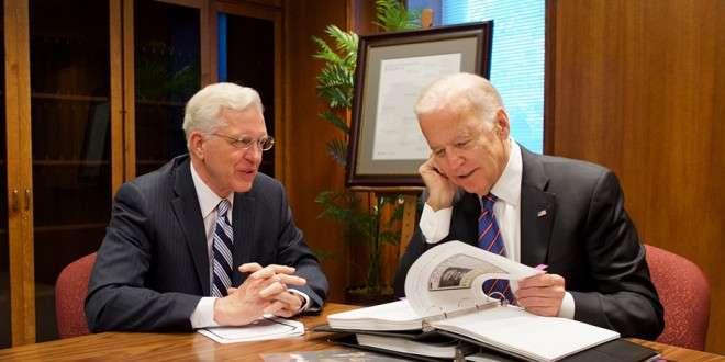 Vice President Joe Biden Receives Family History During Temple Square Visit