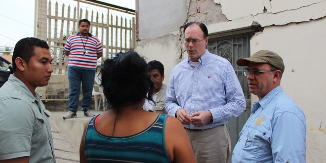 Bishop Waddell Gives Comfort Following Massive Earthquake in Ecuador