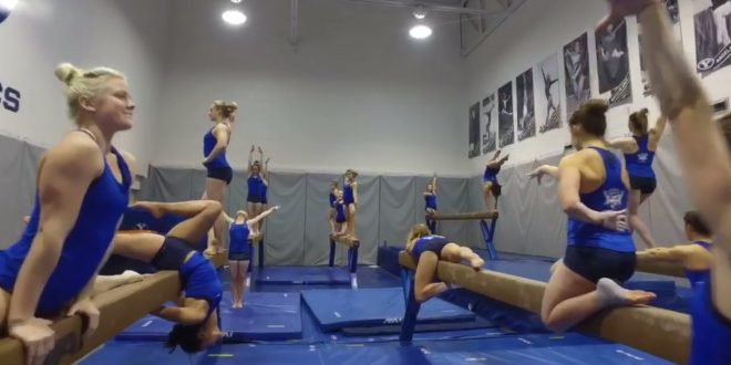 ESPN Declares BYU Women's Gymnastics Team Winners of the 'Mannequin Challenge'