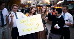 "LDS Missionaries Take to the Street and Ask: ""What Are You Thankful For?"""