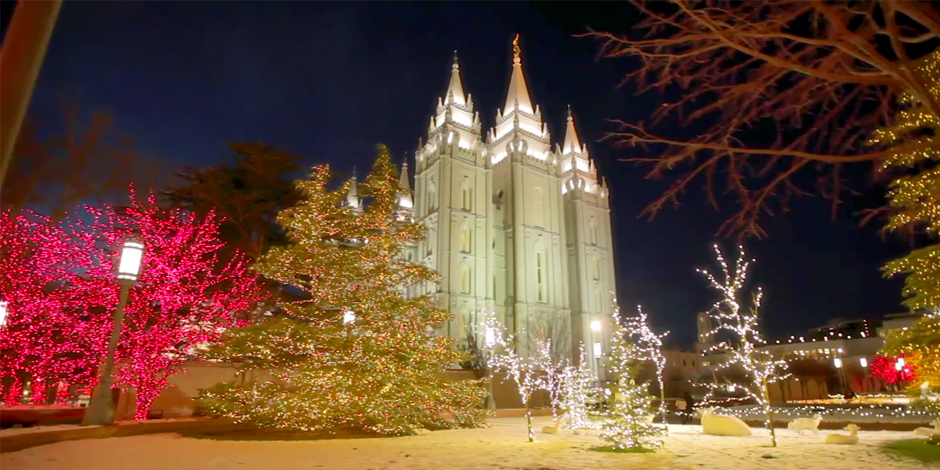 Experience The Magical Christmas Lights On Temple Square