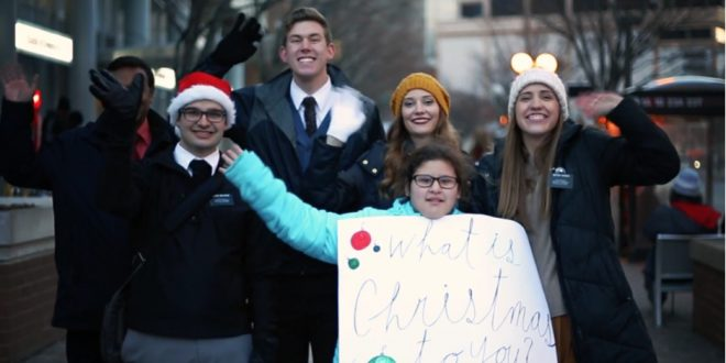 "LDS Missionaries Take to the Street to Ask: ""What is Christmas to You?"""