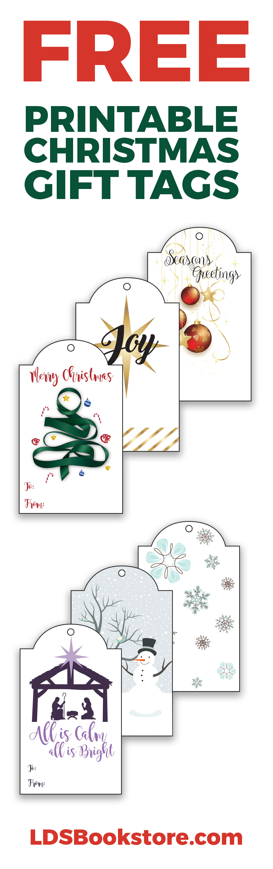 FREE Printable LDS Christmas Gift Tags | LDS Daily