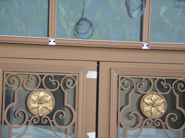 Detail on the doors to baptistry. Courtesy of D. Calmels.