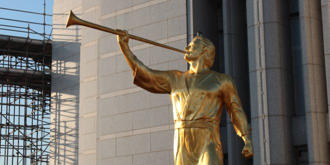 Angel Moroni Statue Tops Rome Temple