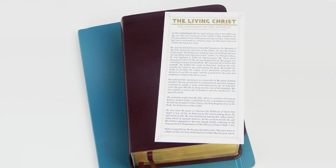 """The Living Christ"" Is Now Available As A Bookmark"