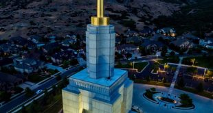 Small Drone Crashes into Draper LDS Temple, Gets Stuck