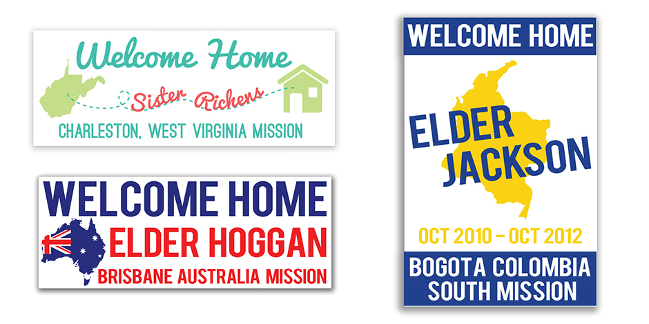 LDS Missionary Homecoming Banner Examples 1