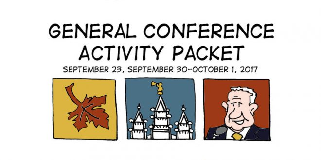FREE General Conference Activity Coloring + Activity Packets ...