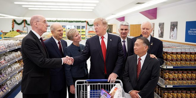 U.S. President Donald Trump Visits LDS Welfare Square