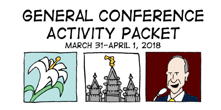 Free General Conference Activity Coloring Activity Packets April