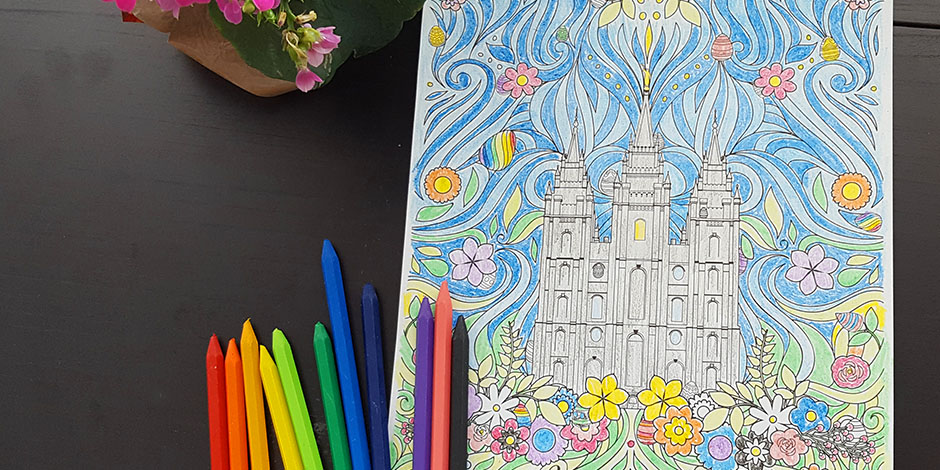 This LDS Easter Coloring Page Is Festive FREE